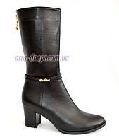 Классические женские ботинки на каблуке, натуральная кожа, фото 1