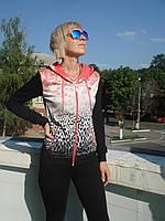 Спортивный костюм женский на молнии Billcee Турция трикотаж брюки ровные