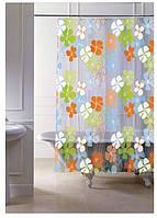 Штора для ванної з кільцями точний розмір 120 (x2) x 200 см, код 15200