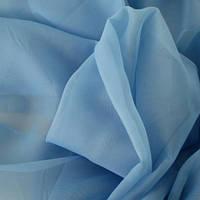 Тюль т. голубая Вуаль, однотонная + высококачественный пошив