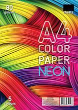 Буумага для принтера 5 кольорів неон