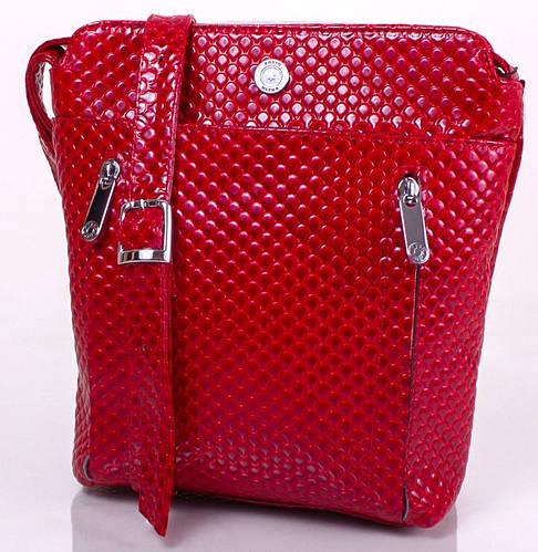 Красивая женская кожаная мини-сумка KARYA (КАРИЯ) SHI0727-1KAP (красный)