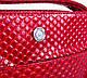 Красивая женская кожаная мини-сумка KARYA (КАРИЯ) SHI0727-1KAP (красный), фото 7