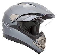 Кроссовый шлем GEON 714 Дуал-спорт Trek Gray Matt, фото 1