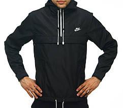 Анорак Nike черный, ветровка, штормовка, фото 2