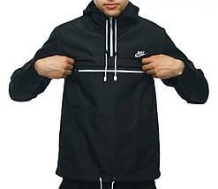 Анорак Nike черный, ветровка, штормовка, фото 3