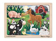 """Пазл начального уровня """"На ферме"""", Melissa&Doug"""