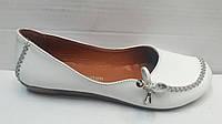 Балетки женские кожаные белые и черные Uk0299