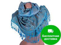 Женский двусторонний палантин из пашмины 170 на 70 см ETERNO (ЭТЕРНО) ES0206-2-blue-yellow