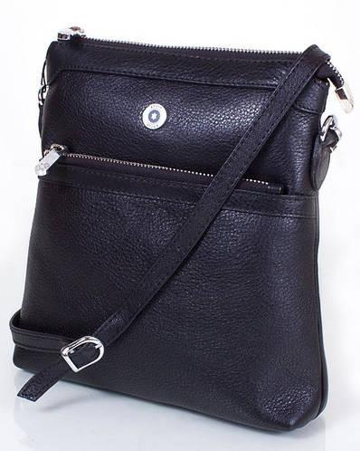 Прекрасная женская кожаная мини-сумка KARYA (КАРИЯ) SHI0726-2FL  (черный)