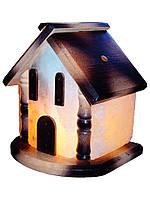 Соляная лампа Домик цветной