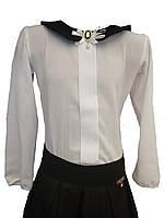 Блузка школьная, р.134,140,146.белая.осень