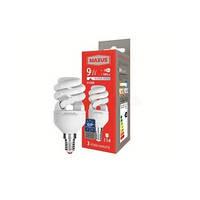Лампа энергосберегающая Maxus (Максус) 9Вт Е14 4100К