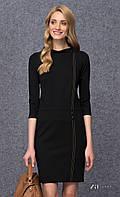 Женское трикотажное платье-футляр черного цвета. Модель Marla Zaps.