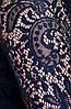 Нарядное трикотажное платье Адель синий гипюр, фото 5
