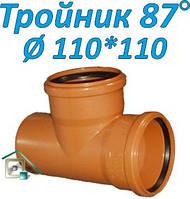 Тройник ПВХ 87º  д. 110х100