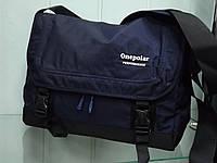 Мужская стильная повседневная текстильная сумка на плечо ONE POLAR 5237 синяя