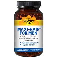 Комплекс для поддержки здоровья волос и кожи у мужчин. Country Life, Maxi Hair