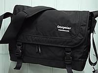 Мужская стильная повседневная текстильная сумка на плечо ONE POLAR 5237 черная