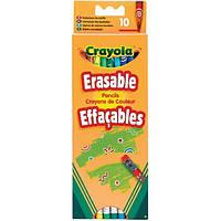Crayola Набор Crayola 10 цветных карандашей с ластиками (3635)