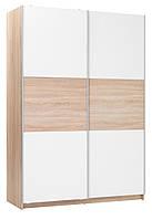 Шкаф купе 2-х дверный белый дуб, ширина 150 см