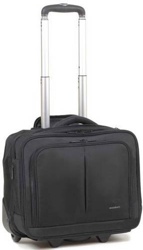 Прекрасная дорожная сумка на 2-х колесиках 25 л. Members Laptop 25 Black, 922788 черный