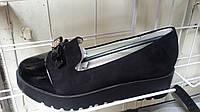 Модные школьные туфли на платформе для девочки Башили 31-34