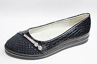 Лаковые синие туфли школа на девочку LILIN 30-36