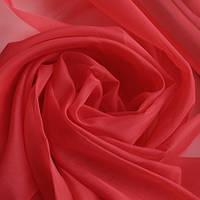Тюль красная Вуаль, однотонная + высококачественный пошив