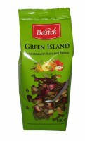 Чай зеленый Bastek Black Island с фруктами и цветами, 100 гр