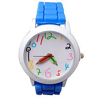 Часы наручные детские Карандаш голубые