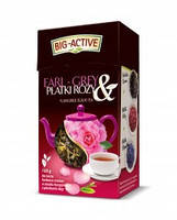 Чай черный Earl-Grey Big-Active с лепестками розы, 80 гр