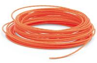 Леска 3 мм для бензокосы красная намотка 15 метров