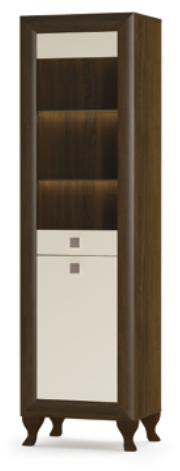 Витрина для гостиной Парма 1В+1Д  Мебель-Сервис