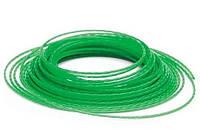Леска 3 мм для бензокосы зеленая намотка 15 метров