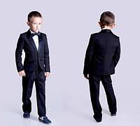 Школьный костюм - смокинг на мальчика с бабочкой