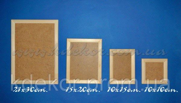Рамка для фото (10х10см.) заготовка для декупажа и декора
