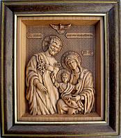 Икона из дерева Святое семейство