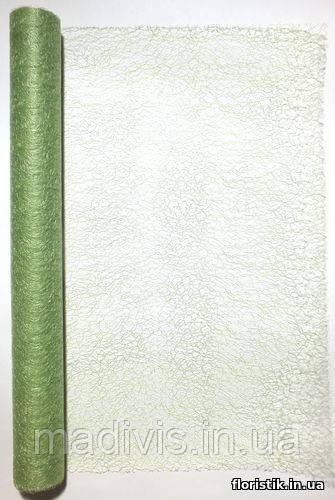 """Сетка """"Паутинка""""светло-зеленая №12, на отрез в пог. м."""