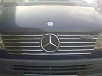 Накладки на решетку (мерседес спринтер 901 (Mercedes sprinter 901), 98-00 нерж, 12шт.