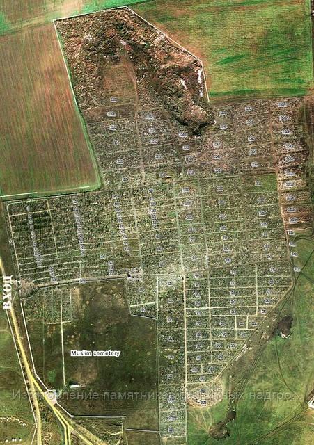 карта нового кладбища в Симферополе со спутника
