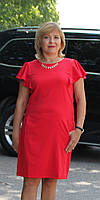 Нарядно женское платье волан красный, фото 1