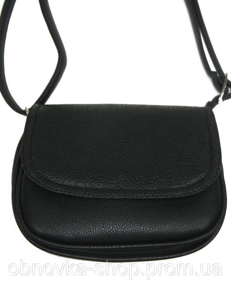 11e56092024e Маленькая сумочка женская черная кружево к/з 12-21 Украина -  Интернет-магазин