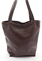 Объемная коричневая женская сумка Кайман Стандарт art. Б/Н