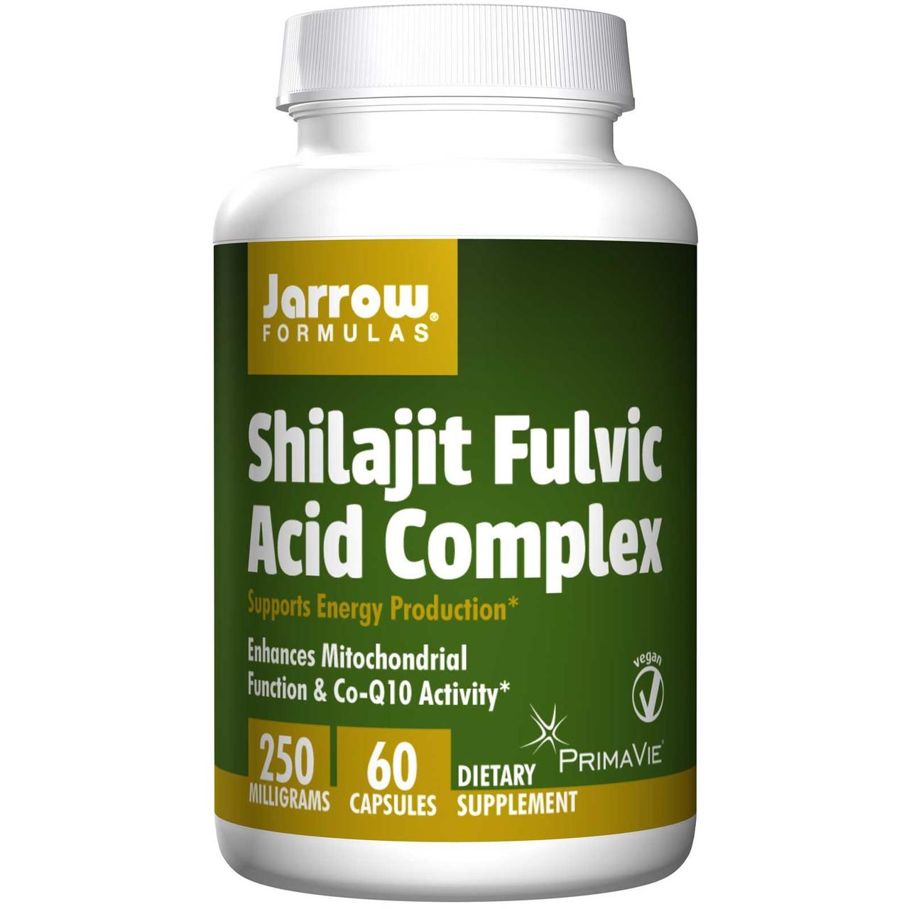 Мумие наивысшей очистки (не менее 60% фульвокислот) Prima Vie, Jarrow Formulas, 250 мг, 60 капсул.