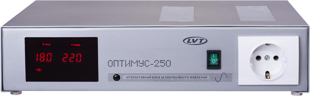 """Бесперебойник LVT """"Оптимус 250"""" - ИБП (12В, 250/500Вт) - инвертор с чистой синусоидой"""