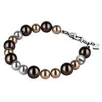 Женский браслет из ювелирной стали Swarovski-Elements коричневый