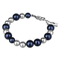 Женский браслет из ювелирной стали Swarovski-Elements синий