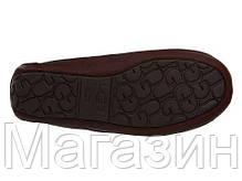 Мужские зимние кожаные мокасины угги UGG Australia УГГ коричневые, фото 2