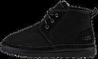 Мужские зимние ботинки UGG Australia (Угги Австралия) натуральная замша с овчиной черные